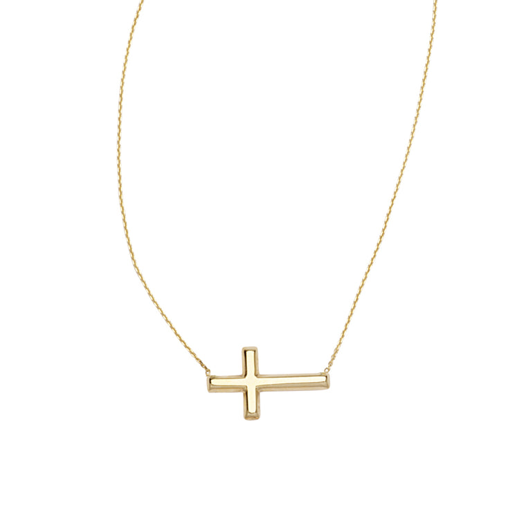 Yellow Gold Cross Necklace
