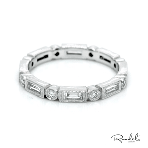 Baguette and Round Eternity Band with Milligrain