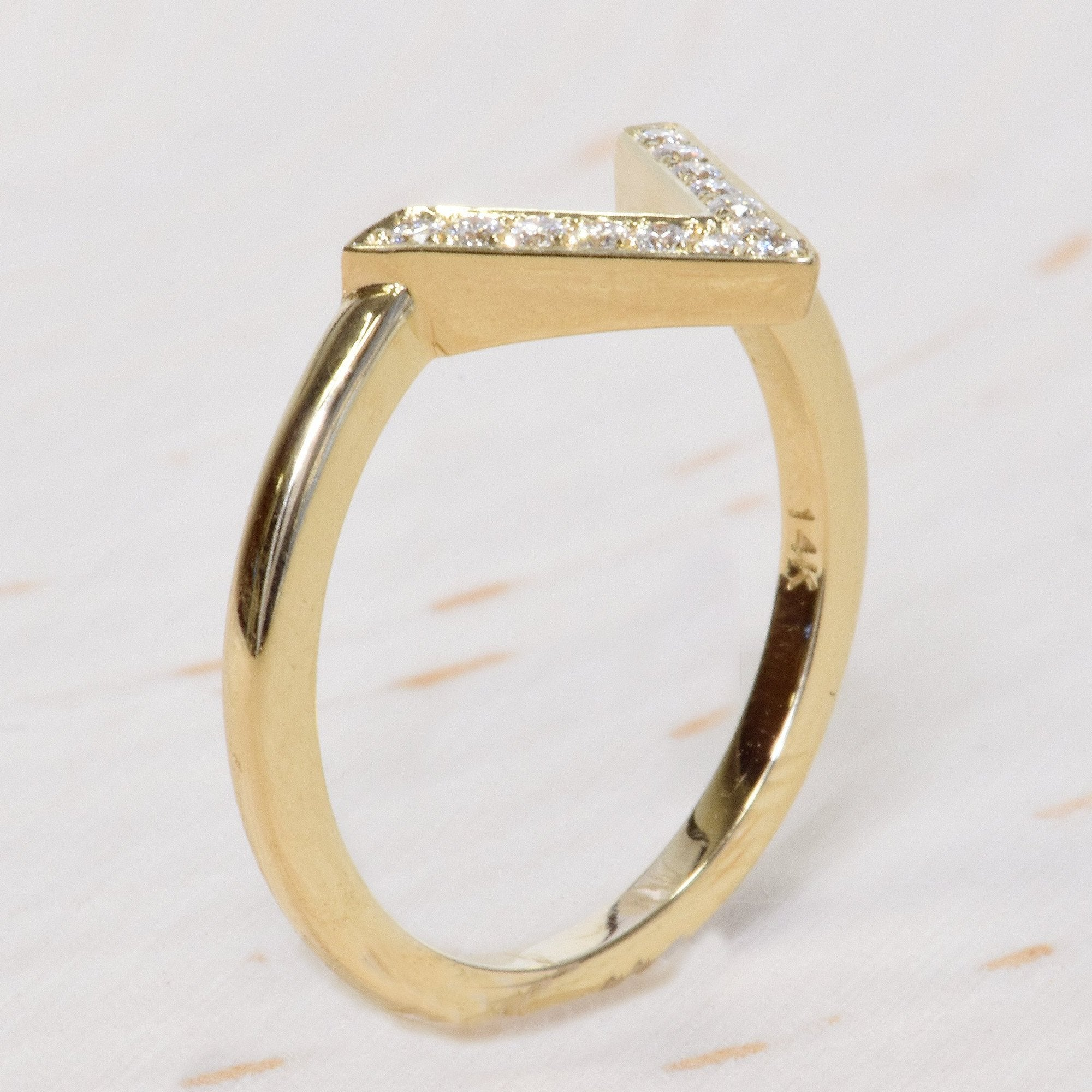 band white ring vintage bands gold diamond and wedding pin