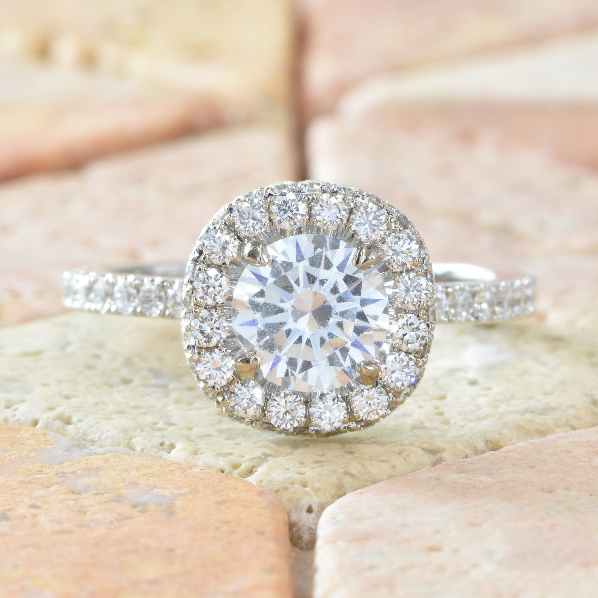 double ring rings product with split liberty platinum shank engagement pave halo michael bondanza