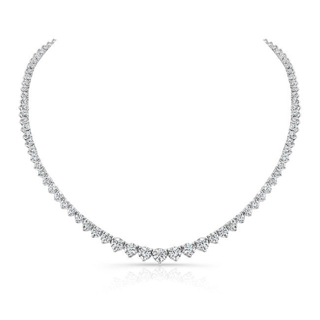 18k White Gold Forevermark® Diamond Riviera Tennis Necklace