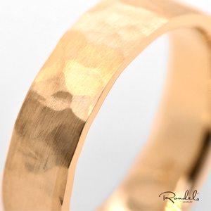 Hammered Rustic Gold Band