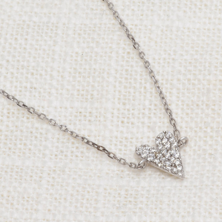 Dainty Diamond Heart Bracelet