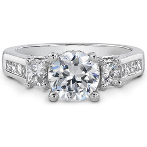 14k White Gold Open Gallery Diamond Semi Mount
