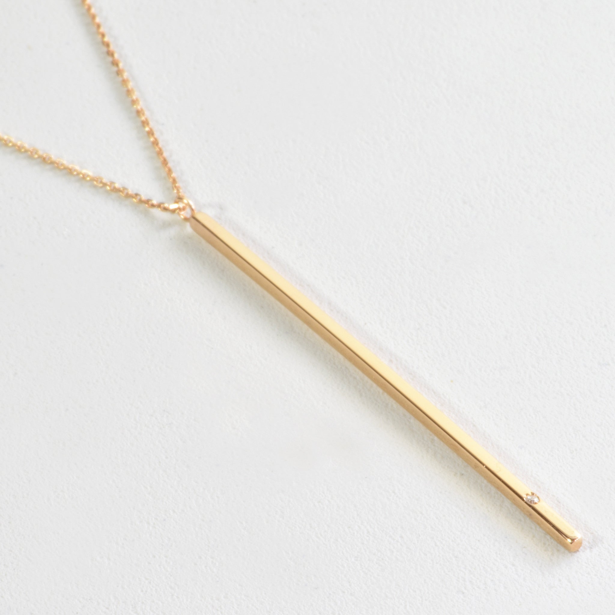 product and gold necklace pendant with milgrain circle cz vermeil bar