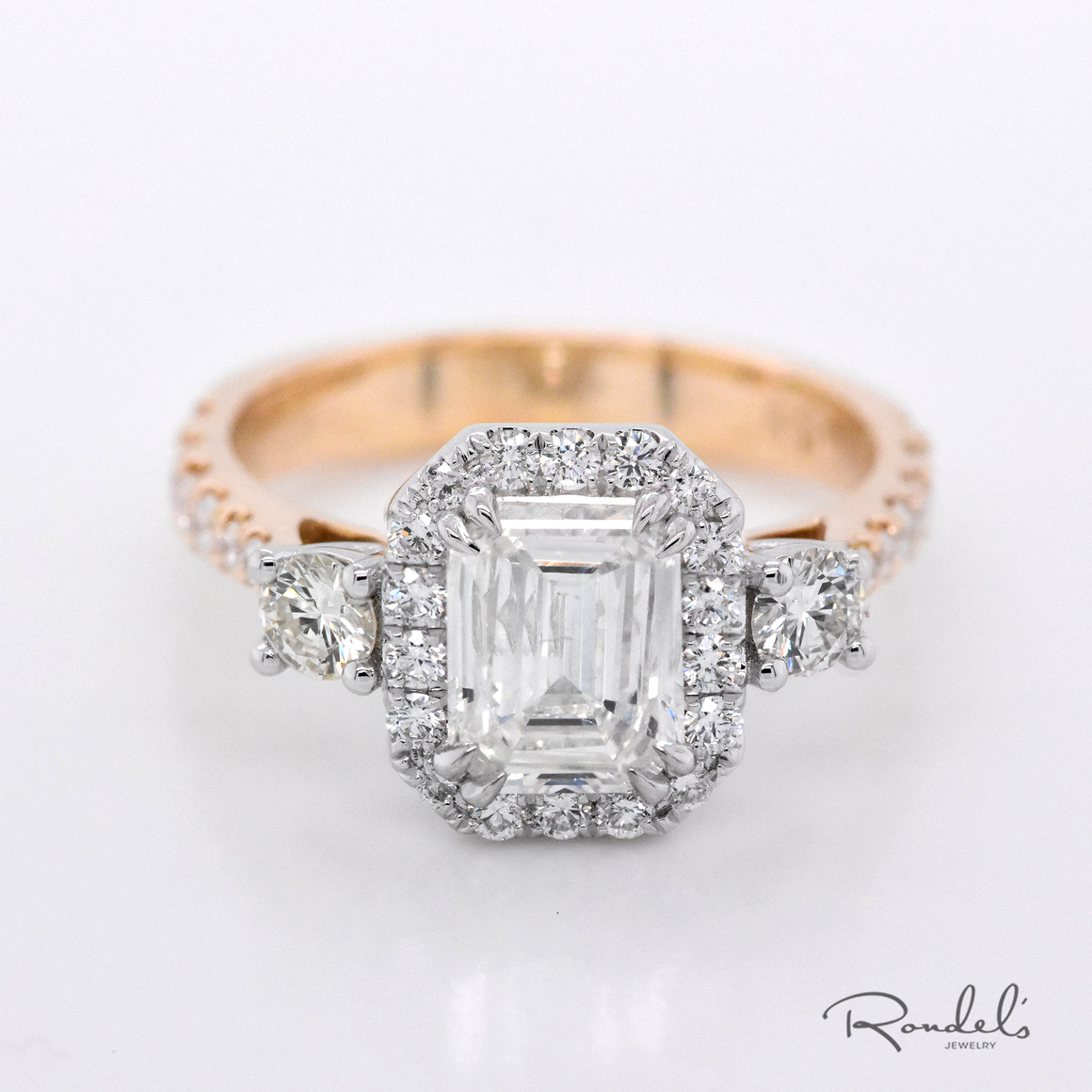 Vintage Inspired Two-Tone Engagement Ring