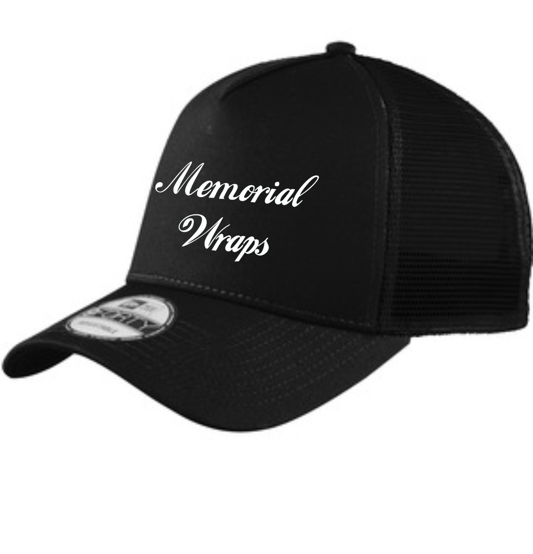 Memorial Wraps Black on Black Snapback