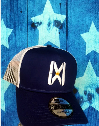MW Snapback White/Blue