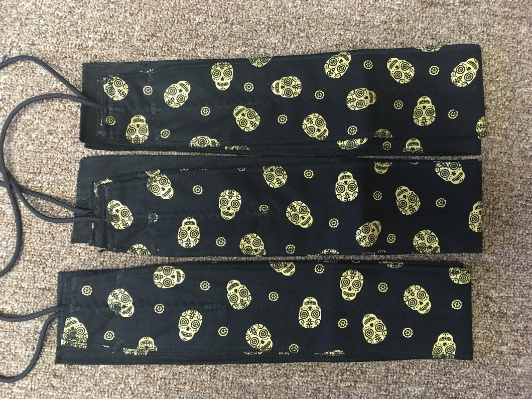 Golden Skull Wrist Wraps for Fitness Weight Lifting