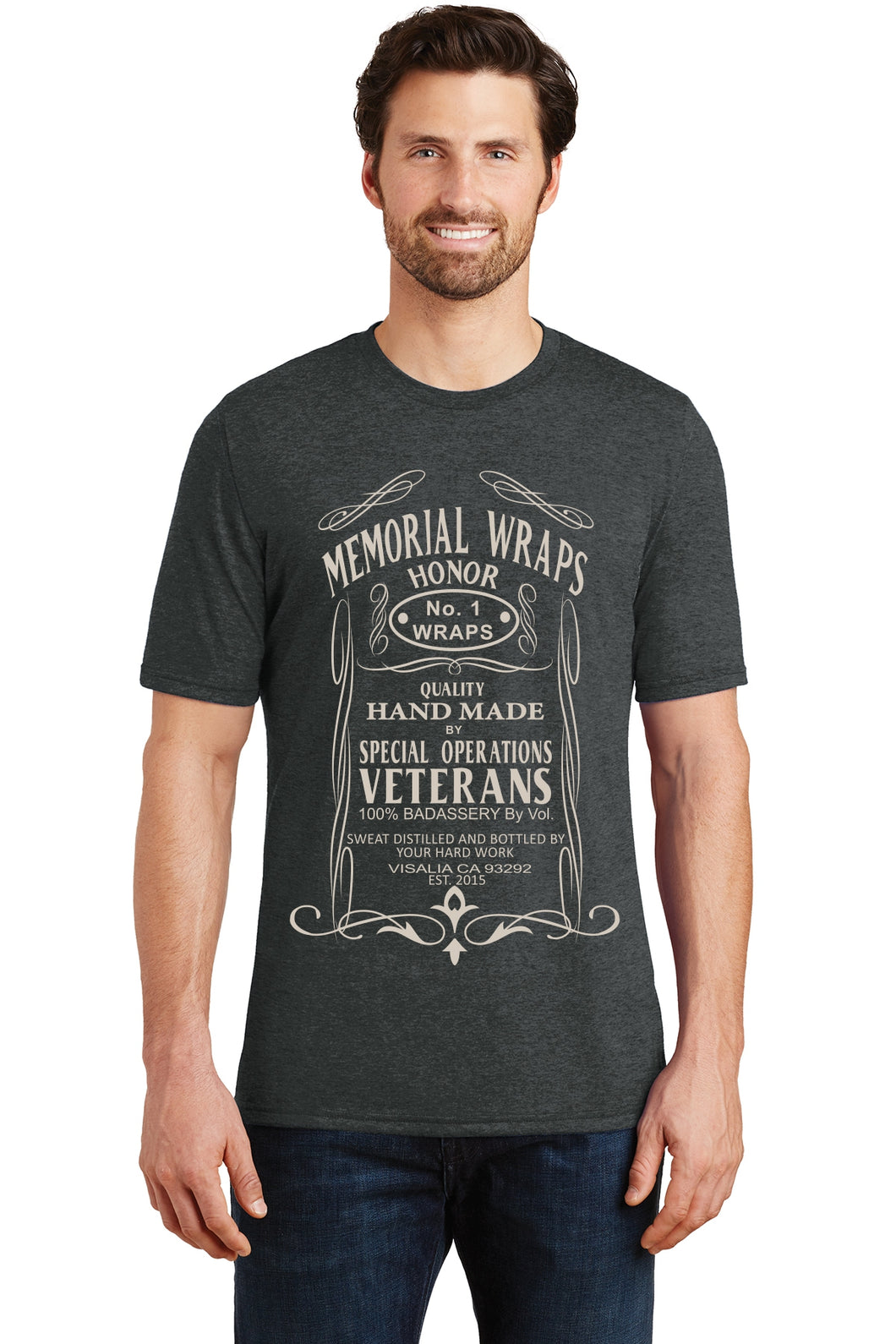Tri Blend Memorial Wraps Label