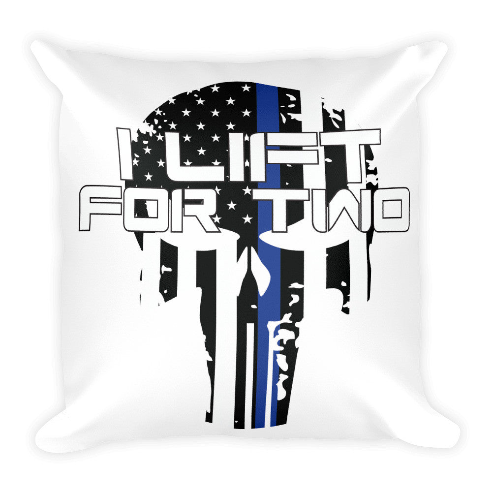 Thin Blue Line Punisher Square Pillow