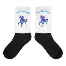 Fucking Magic Unicorn Black foot socks