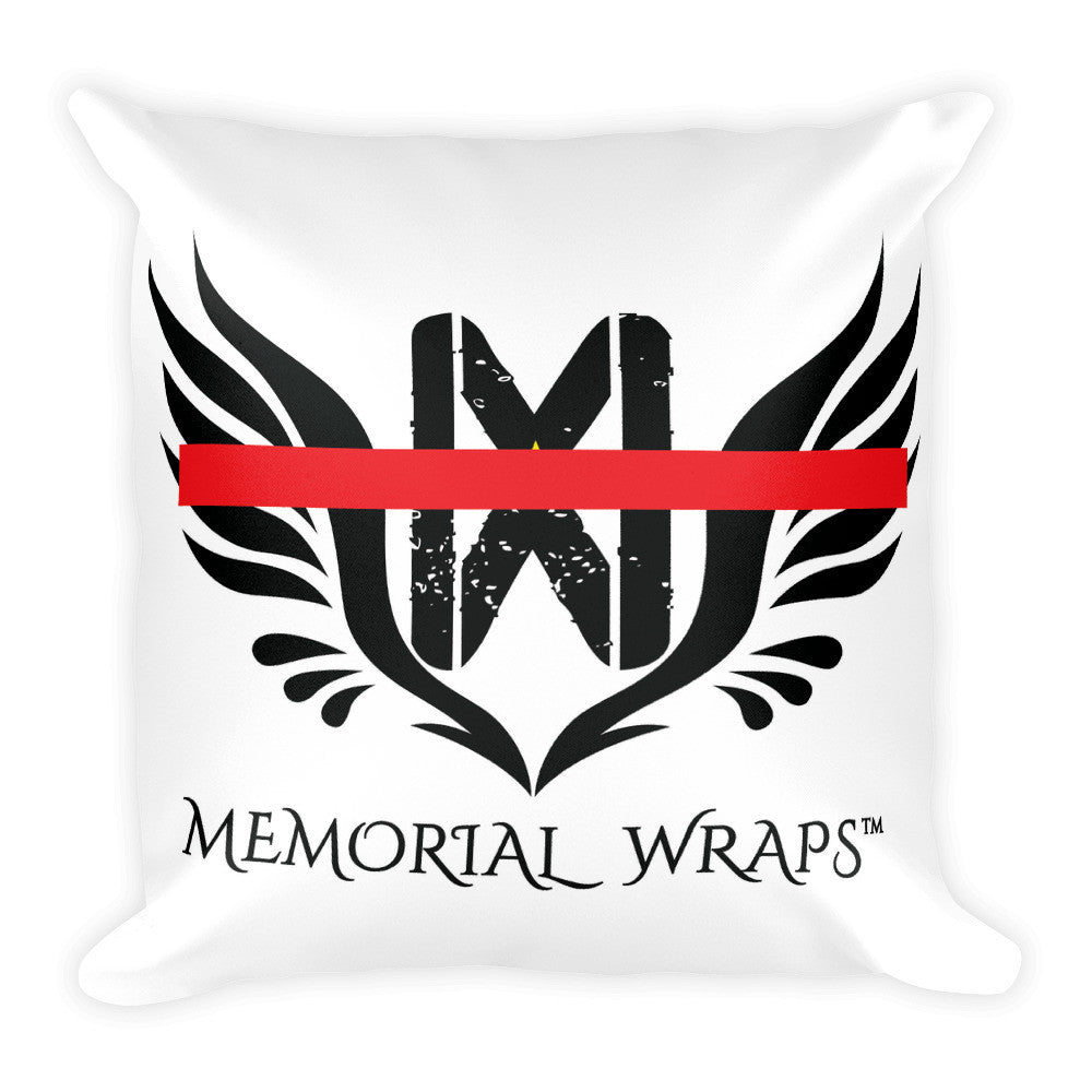 Thin Red Line Square Pillow