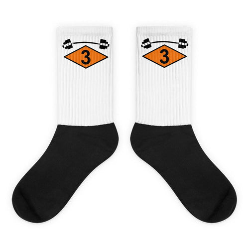 3rd Ranger Battalion Barbell Black foot socks