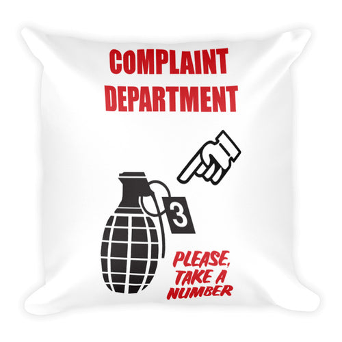 Complaint Department Square Pillow
