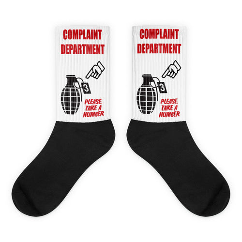 Complaint Department Black foot socks