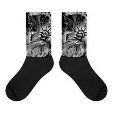 Lady Liberty Black foot socks
