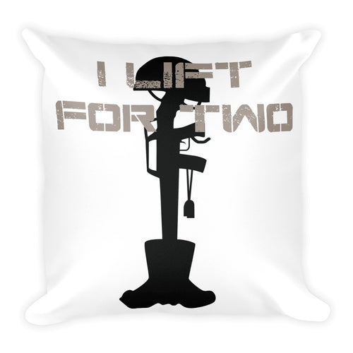 I LIFT FOR TWO WOD Pillow