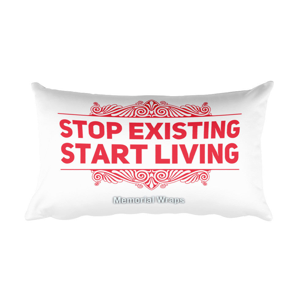 Start Living Rectangular Pillow