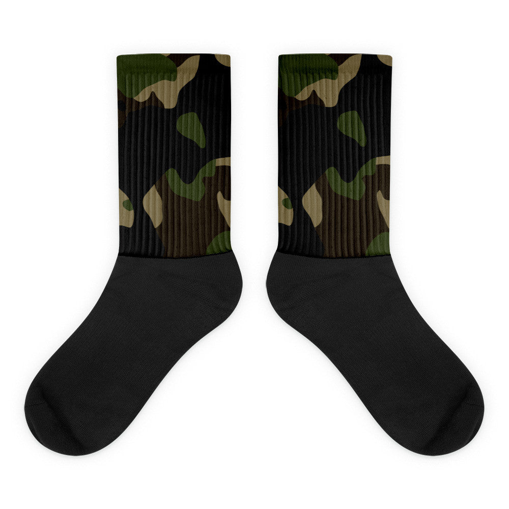 Camo Black foot socks