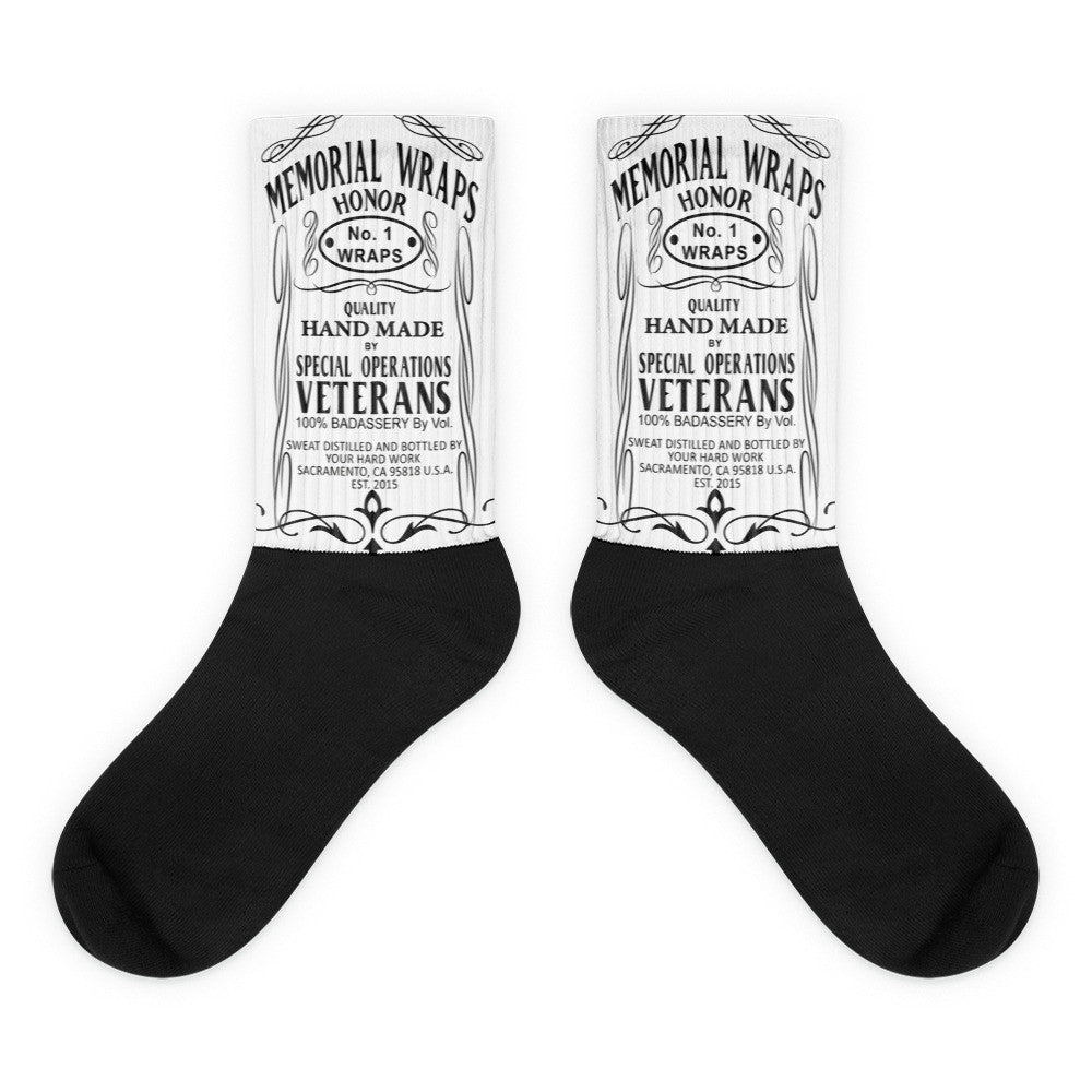 MW Black foot socks