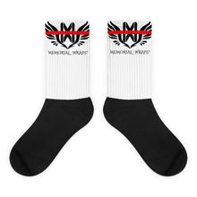 Memorial Wraps Red Line Black foot socks