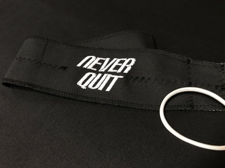 NEVER QUIT Friction Cloth Memorial Wraps Wrist Wrap