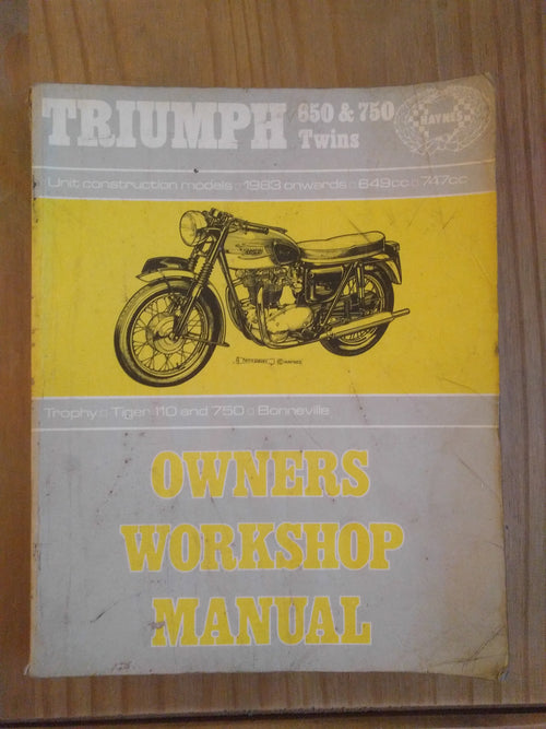 Triumph 650 & 750 twins (Tiger and Bonneville) workshop manual - VintagePiston