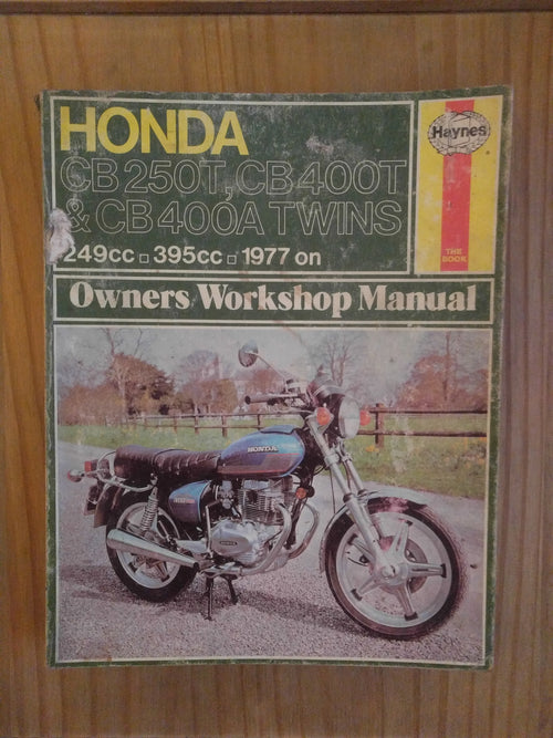 Honda CB250T, 400T & 400A twins workshop manual - VintagePiston