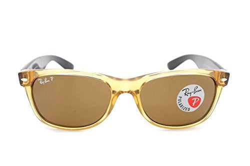 Ray-Ban RB 2132 945/57 55mm New Wayfarer Honey W/ Crystal Brown Polarized Lens