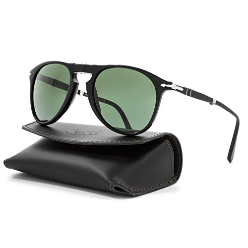Persol 95/31 Black Sliver Foldable - Black Aviator Sunglasses Size 52mm