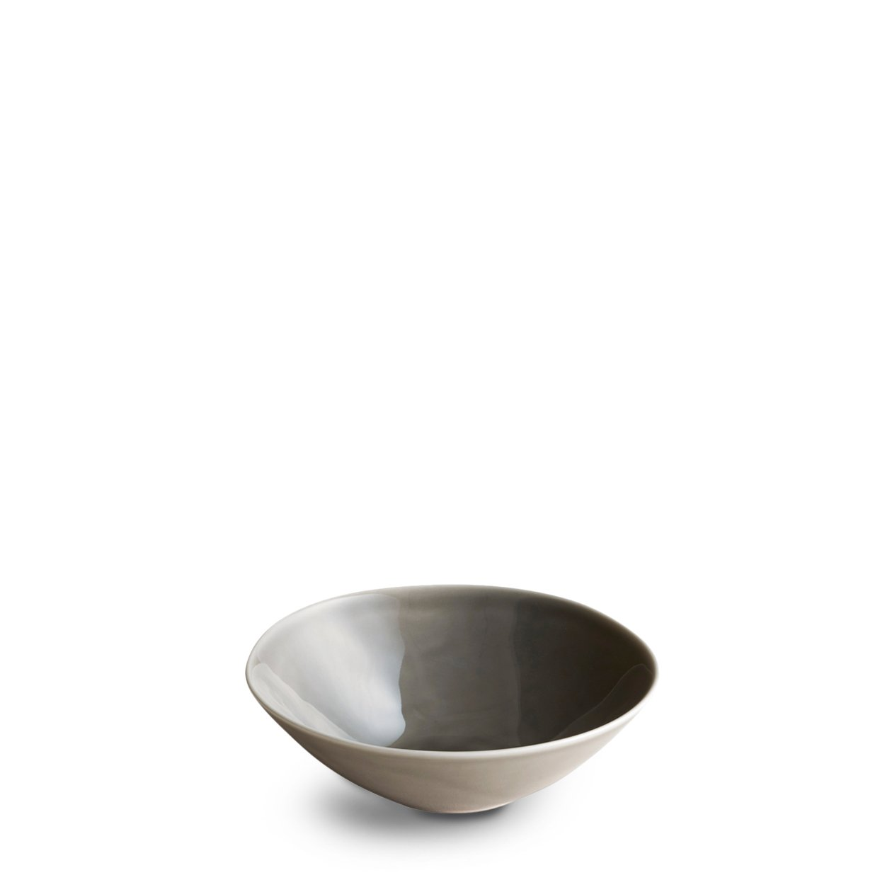 Dune Porcelain Deep Plate Small Grey