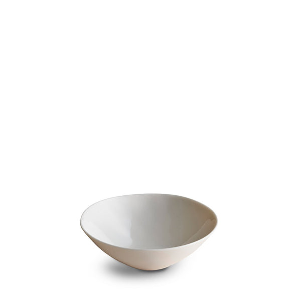 Dune Porcelain Deep Plate Small White
