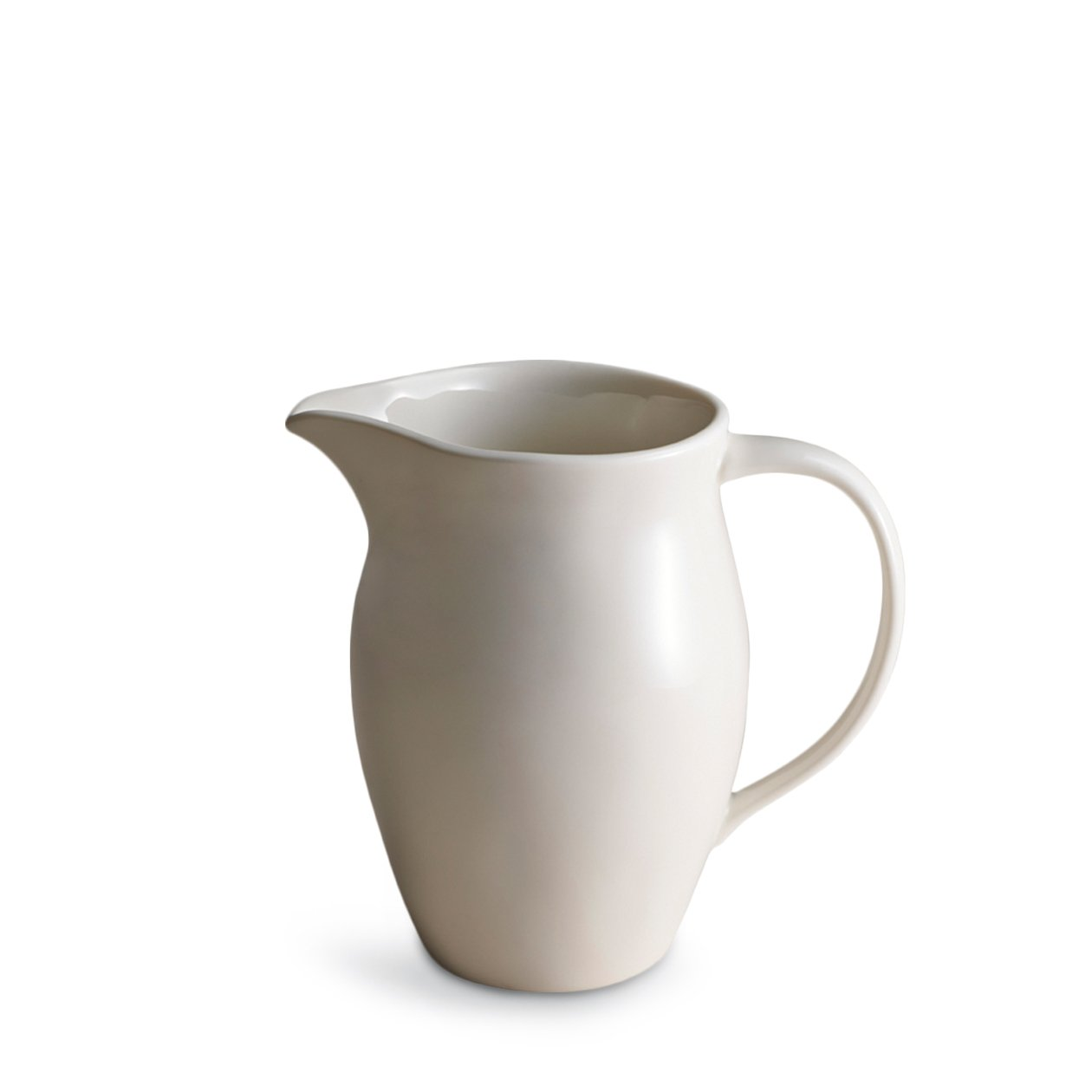 Dune Porcelain White Pitcher