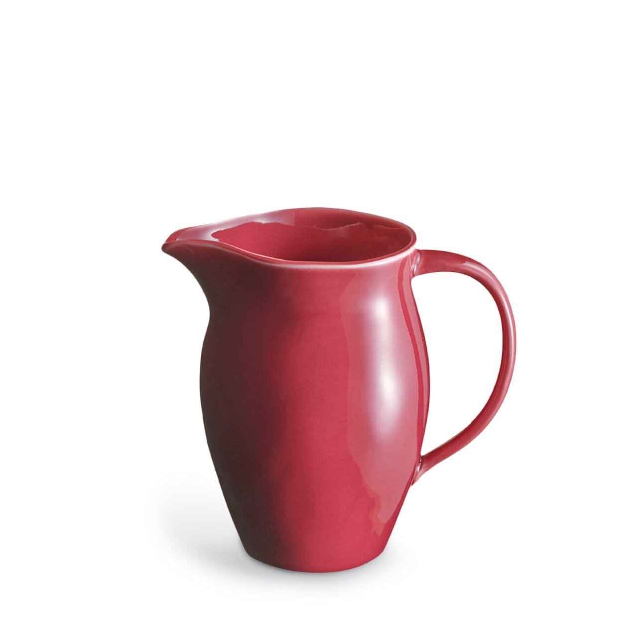 Dune Porcelain Red Pitcher