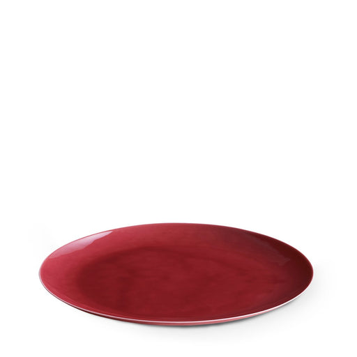 Dune Porcelain Large Plate Red