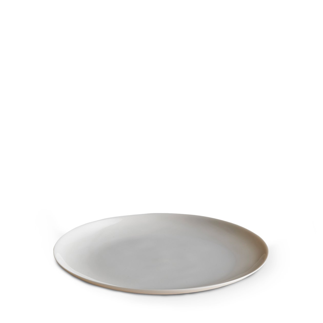 Dune Porcelain Medium Plate White