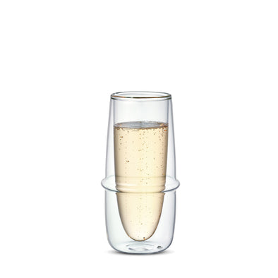 KRONOS Double Wall Champagne Glass