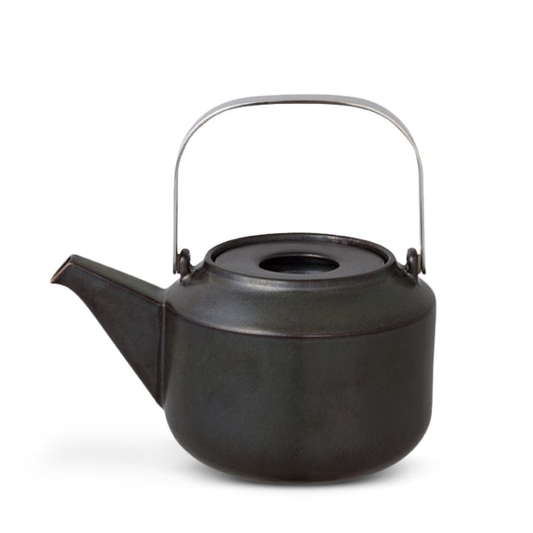 Leaves to tea teapot black
