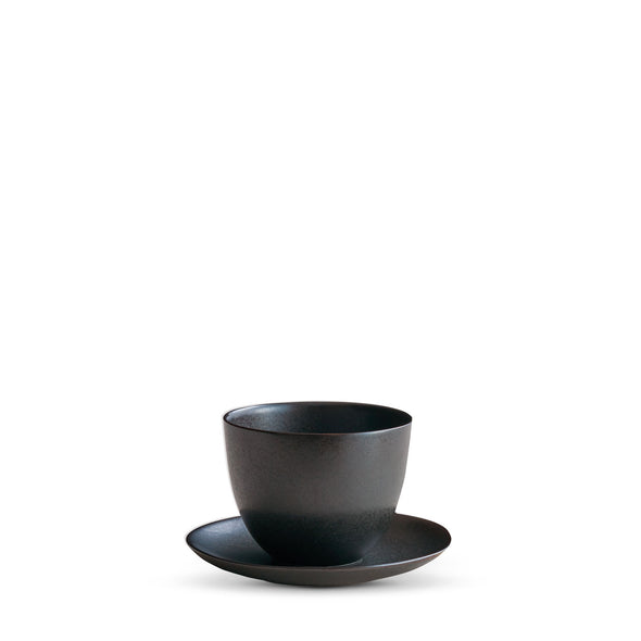 Pebble Cup & Saucer black