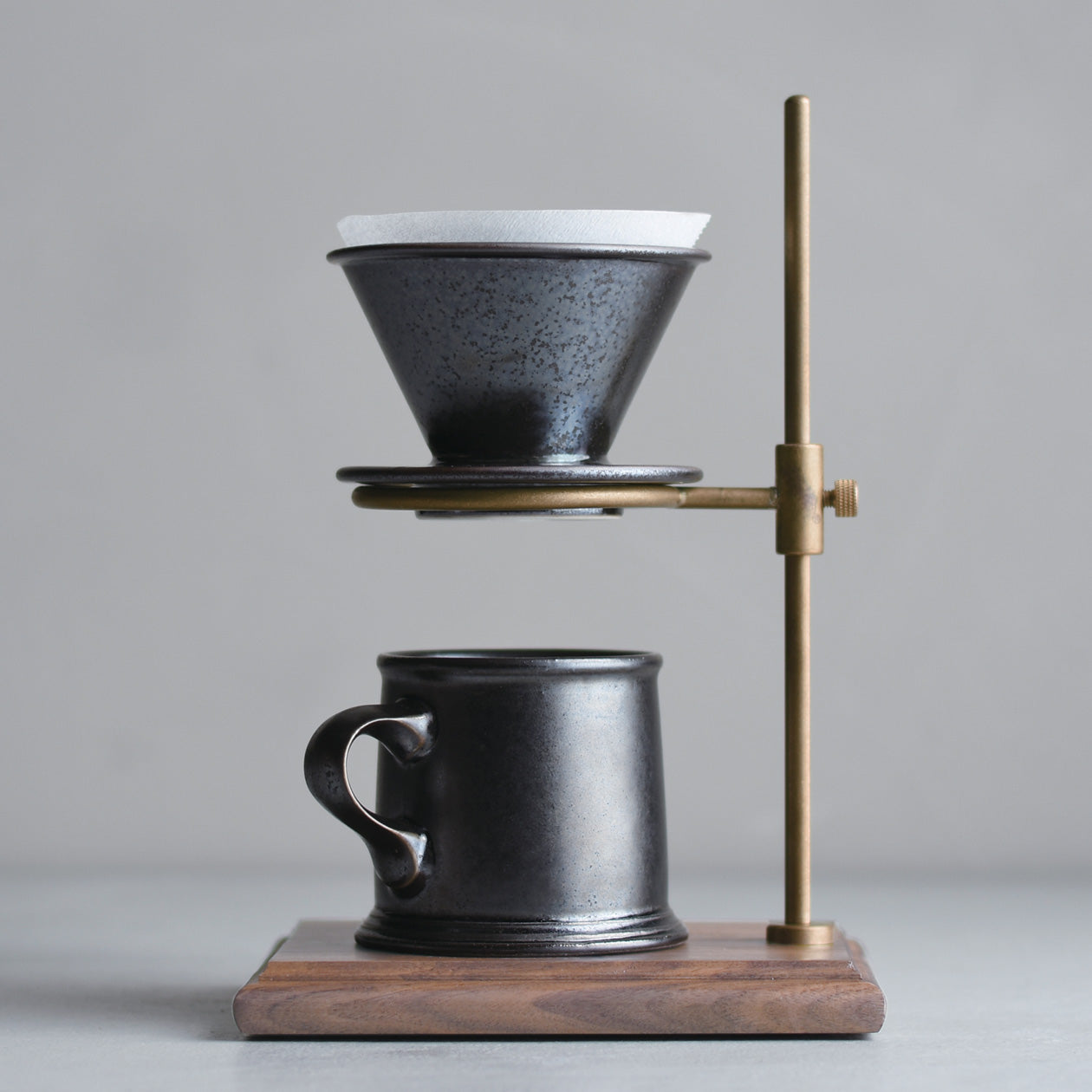 SCS-S01 Mug black, brewer and coffee stand