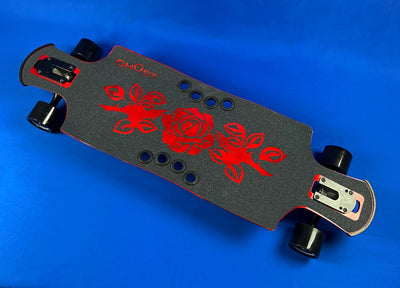Red Rose - Ghost Long Board