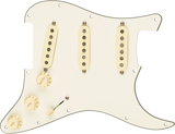 Fender Pre-Wired Strat Pickguard, Custom Shop Texas Special SSS, Parchment 11 Hole PG