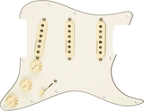 Pre-Wired Strat Pickguard, Hot Noiseless SSS, Parchment 11 Hole PG