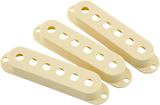 Fender Road Worn Stratocaster Pickup Covers, Aged White (3)