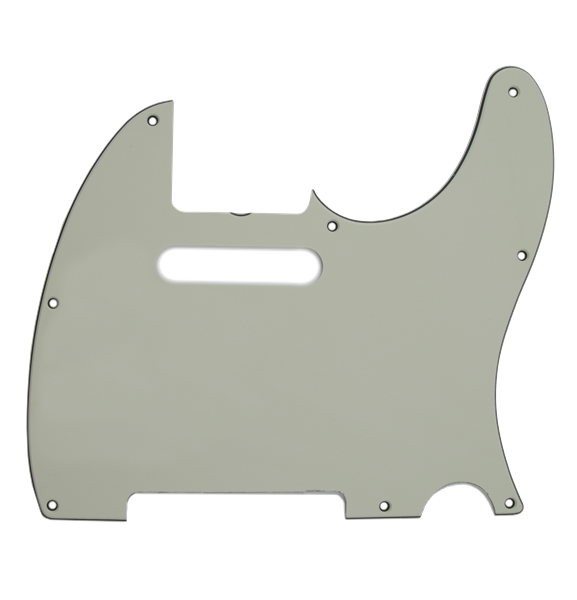 Fender Pickguard, Telecaster®, 8-Hole (Vintage-Style Pickup Mount), Mint Green, 3-Ply