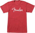 Fender Spaghetti Logo T-Shirt, Heather Red