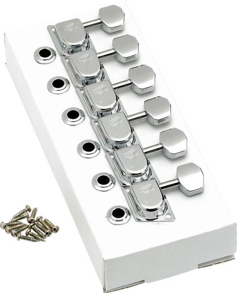 "Fender 70s ""F"" Style Stratocaster®/Telecaster® Tuning Machines Chrome"
