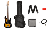Affinity Series™ Precision Bass® PJ Pack, Laurel Fingerboard, Brown Sunburst, Gig Bag, Rumble™ 15 - 120V