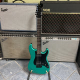 Fender Boxer Series Stratocaster HH, Rosewood Fingerboard, Sherwood Green Metallic